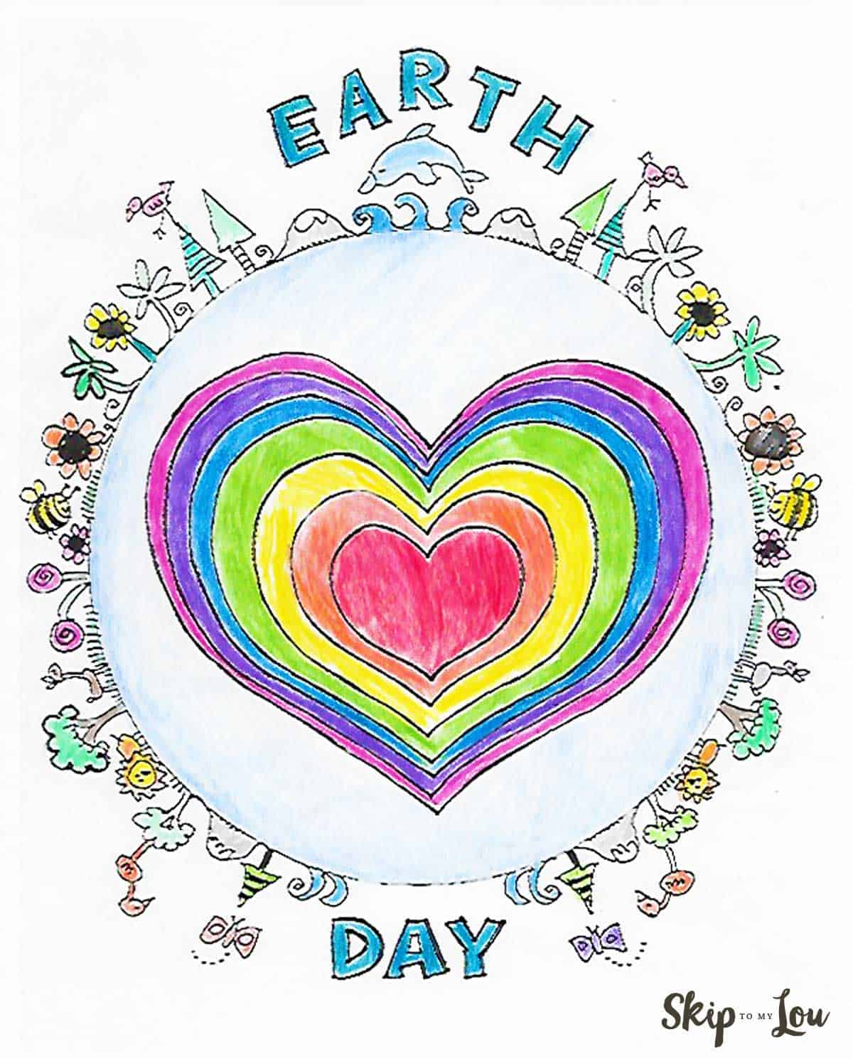 Earth Day Coloring
