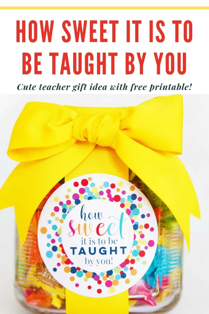 How Sweet it is to be taught by you Pinterest Graphic