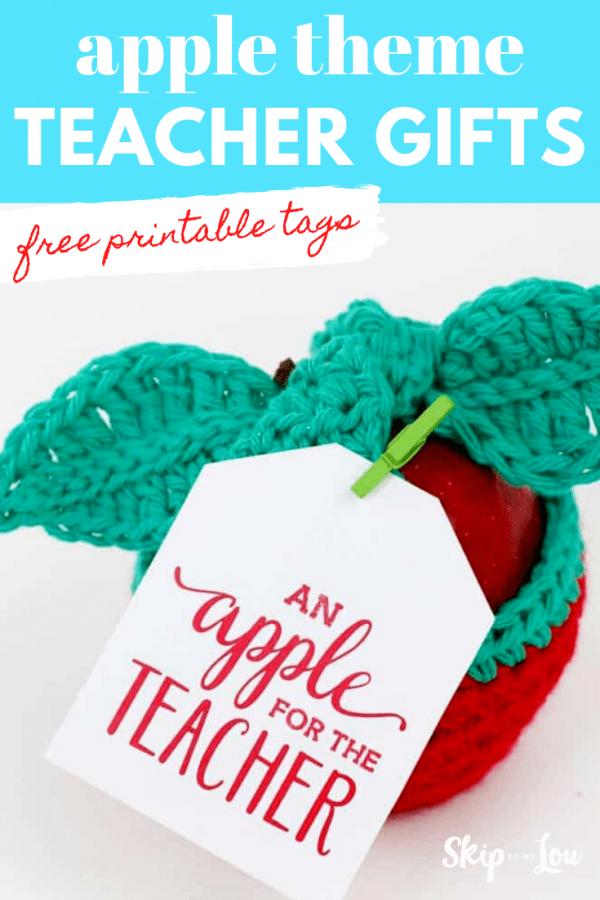 apple theme teacher gift tags PIN