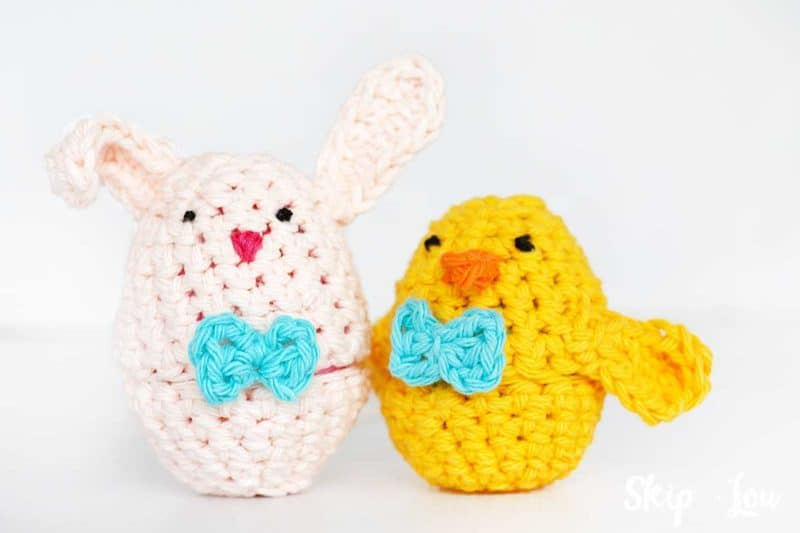 pink bunny and yellow chick Easter Egg covers