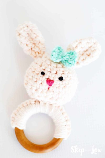 crochet bunny teether
