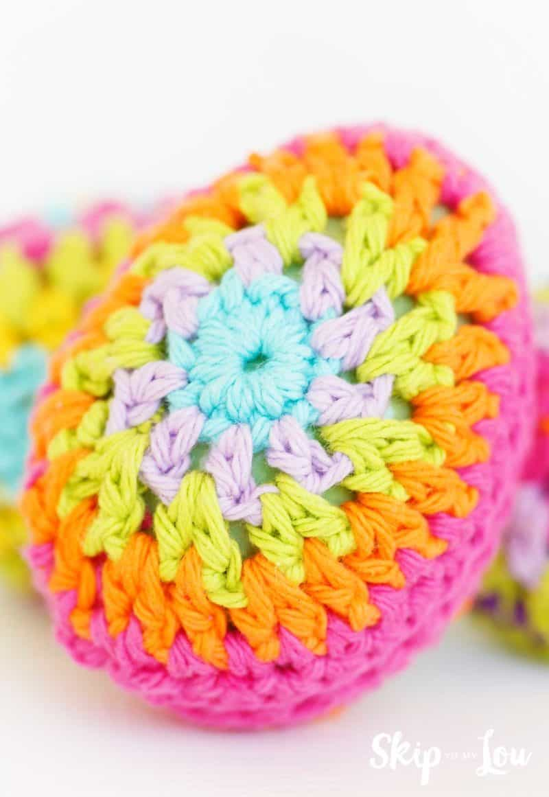 colorful crochet Easter Egg