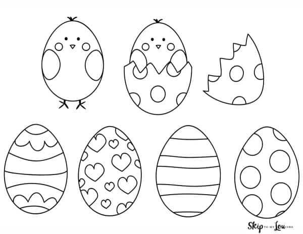 easter eggs with chick popping out