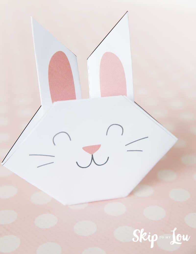 printable origami bunny eyes closed