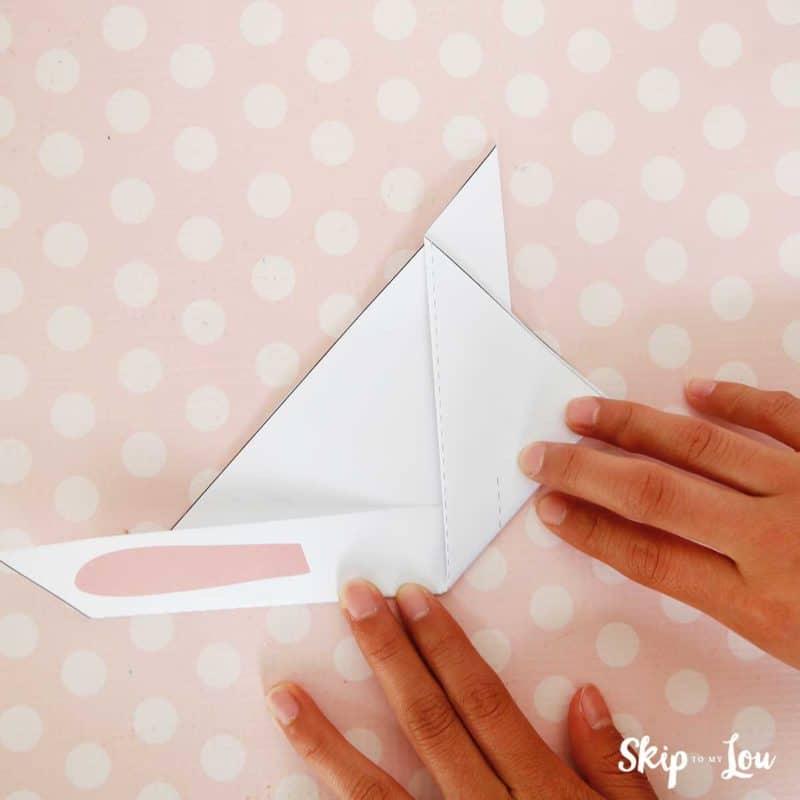 fold up origami bunny ear