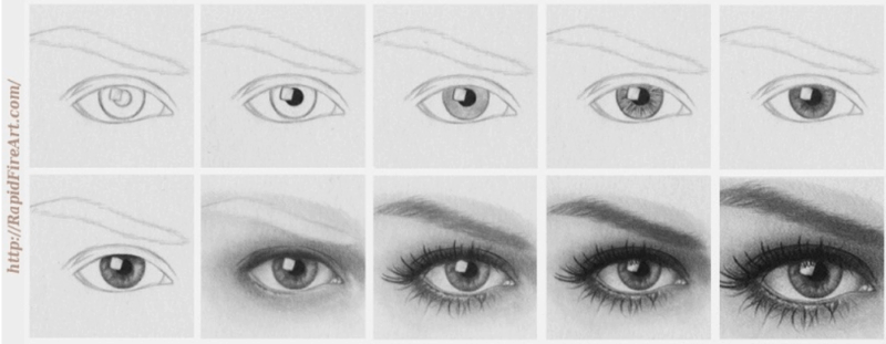 drawing of eyes