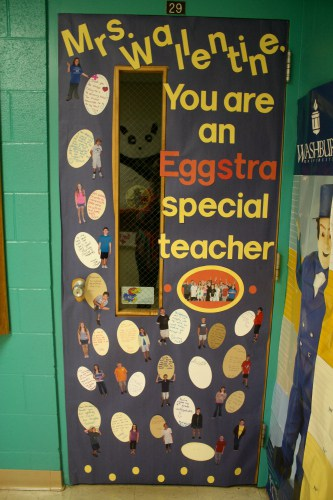 eggstra special teacher door idea