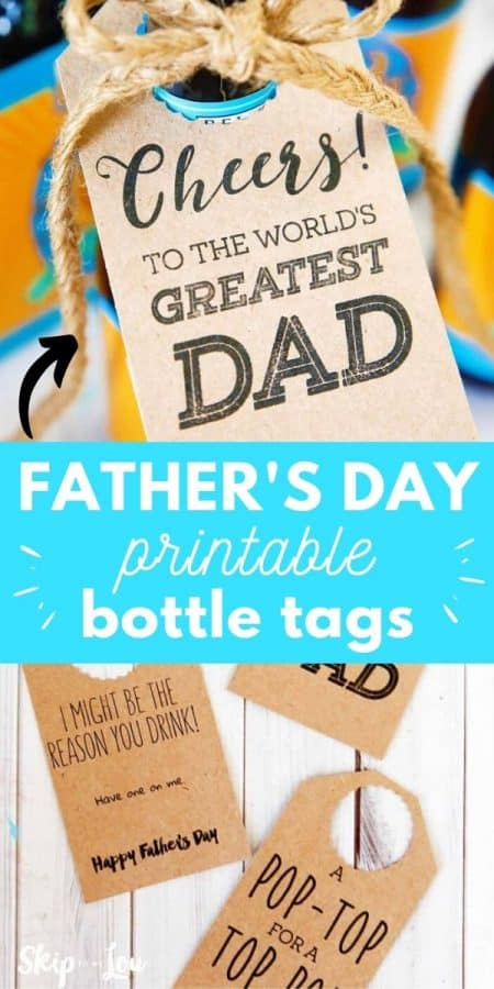 fathers day printable bottle tags PIN