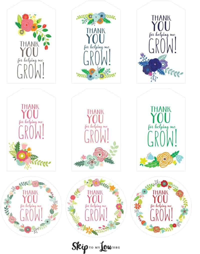 photo regarding Free Printable Gift Tags called Totally free Printable Thank On your own for Assisting Me Expand Present Tags