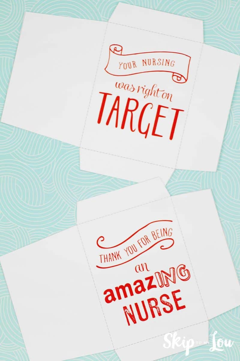 printable nurse gift card holders cut out