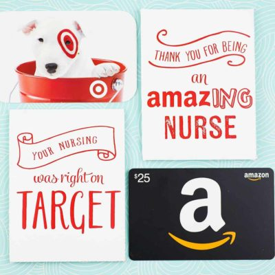 printable nurse gift card holders with gift cards