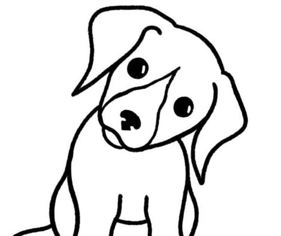 How To Draw A Dog Easy Tutorial Skip To My Lou