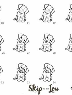 step by step how to draw a dog
