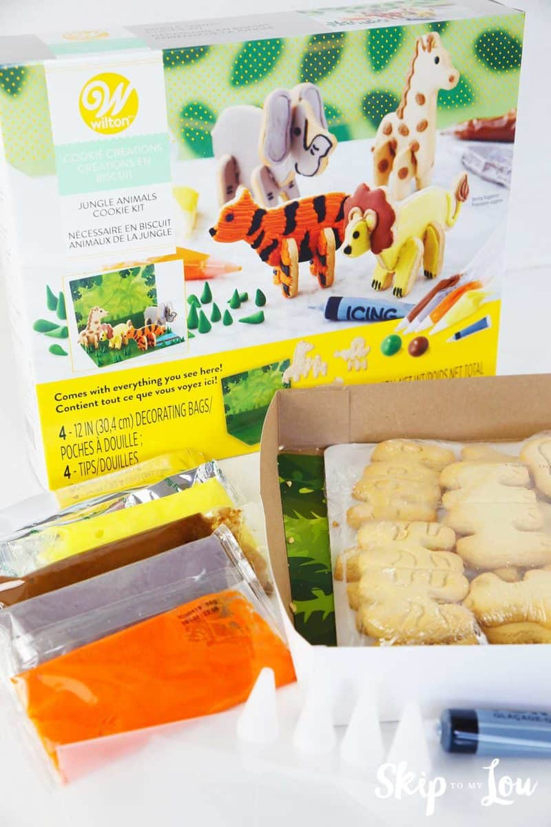 wilton jungle animals cookie kit supplies
