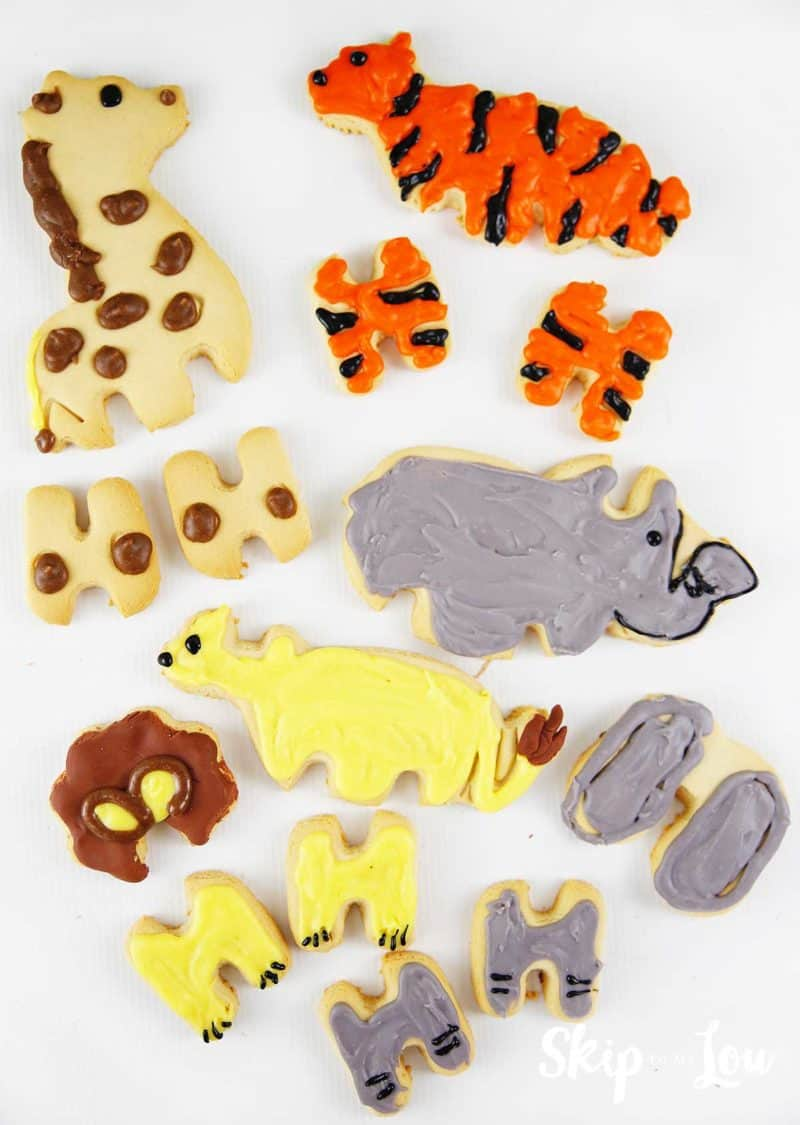 decorated cookie pieces