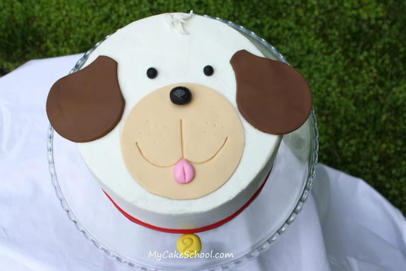 puppy face cake