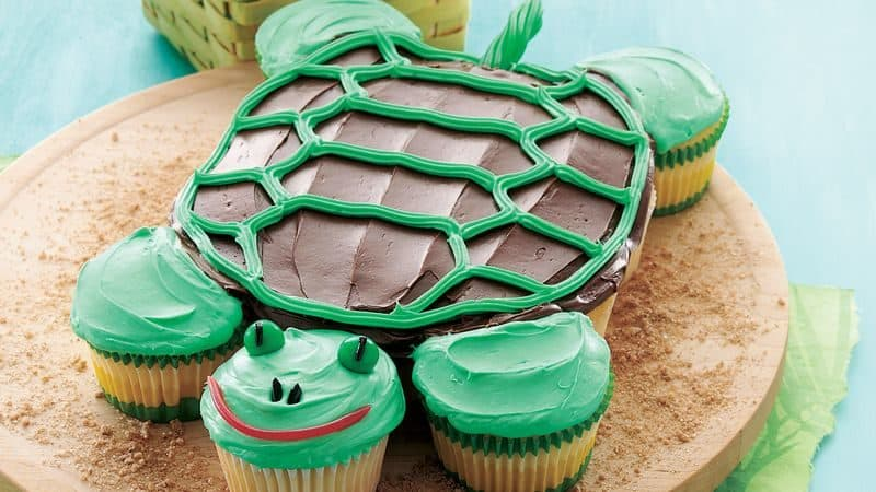 cupcakes in shape of turtle