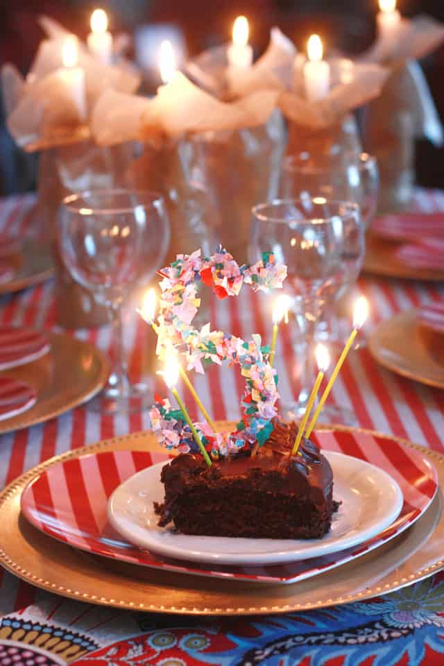 confetti cake topper