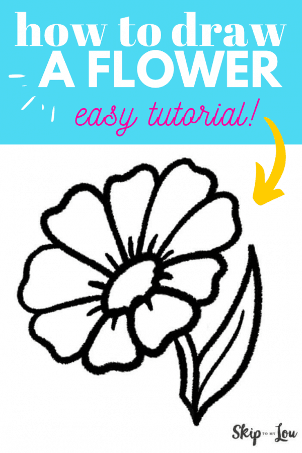 how to draw a flower PIN