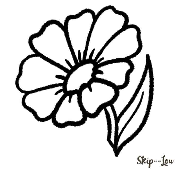 Flower Drawings Simple: How To Draw A Flower {EASY Tutorial}
