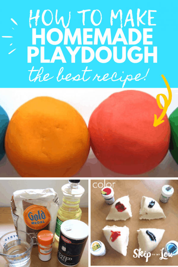 how to make homemade playdough PIN