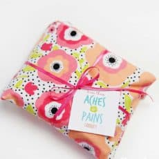 rice heating bag with gift tag
