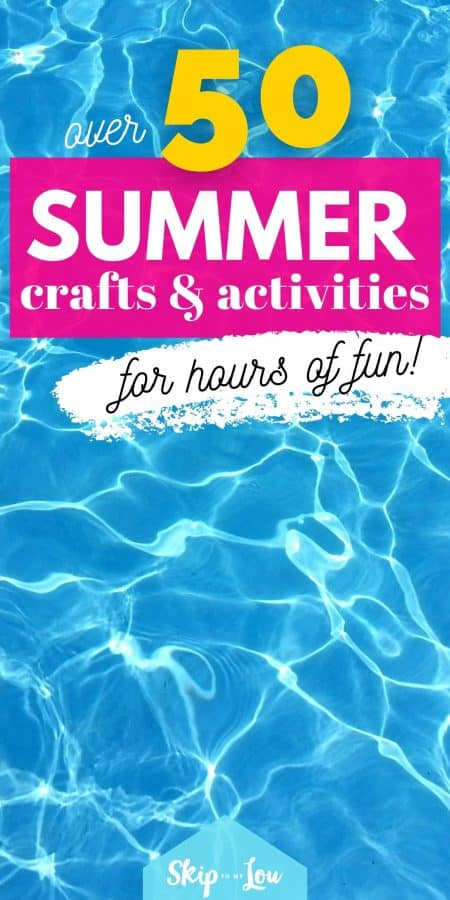 summer crafts and activities PIN