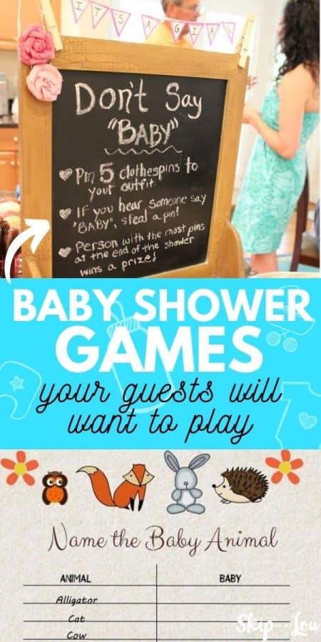baby shower fun games PIN
