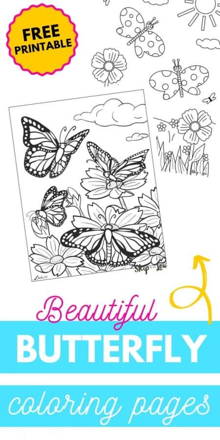 butterfly coloring pages PIN
