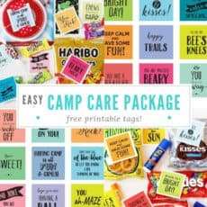 camp care package pin image