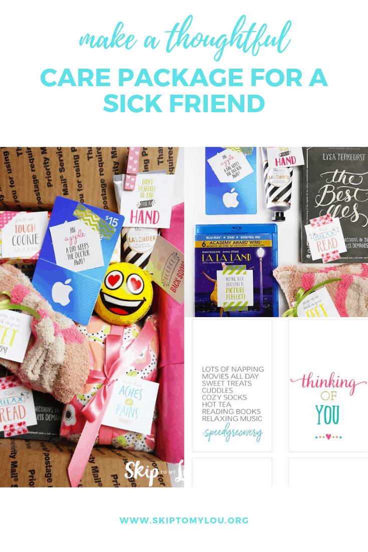 care package pinterest collage