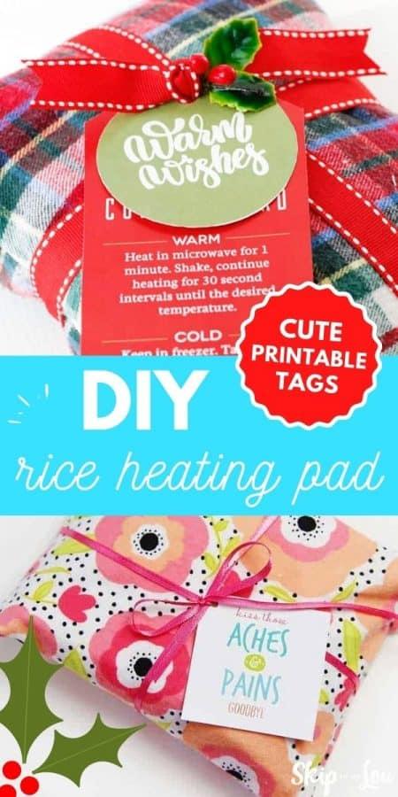 diy rice heating pad tags