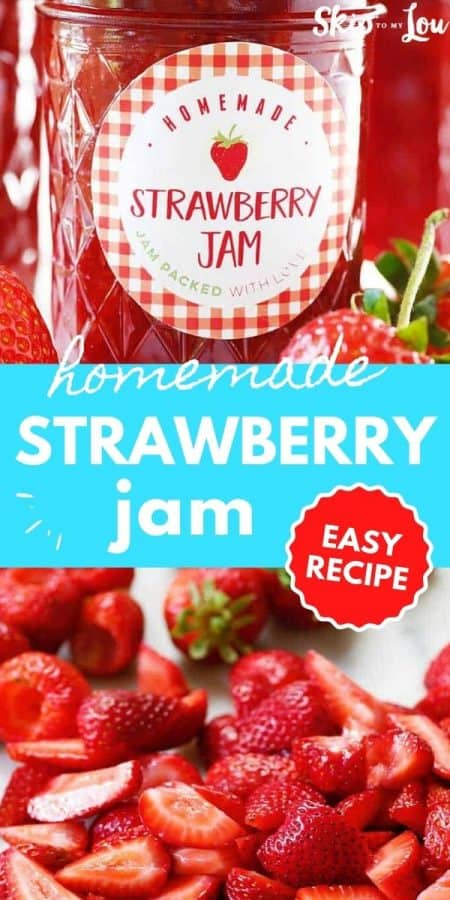 easy strawberry jam recipe PIN