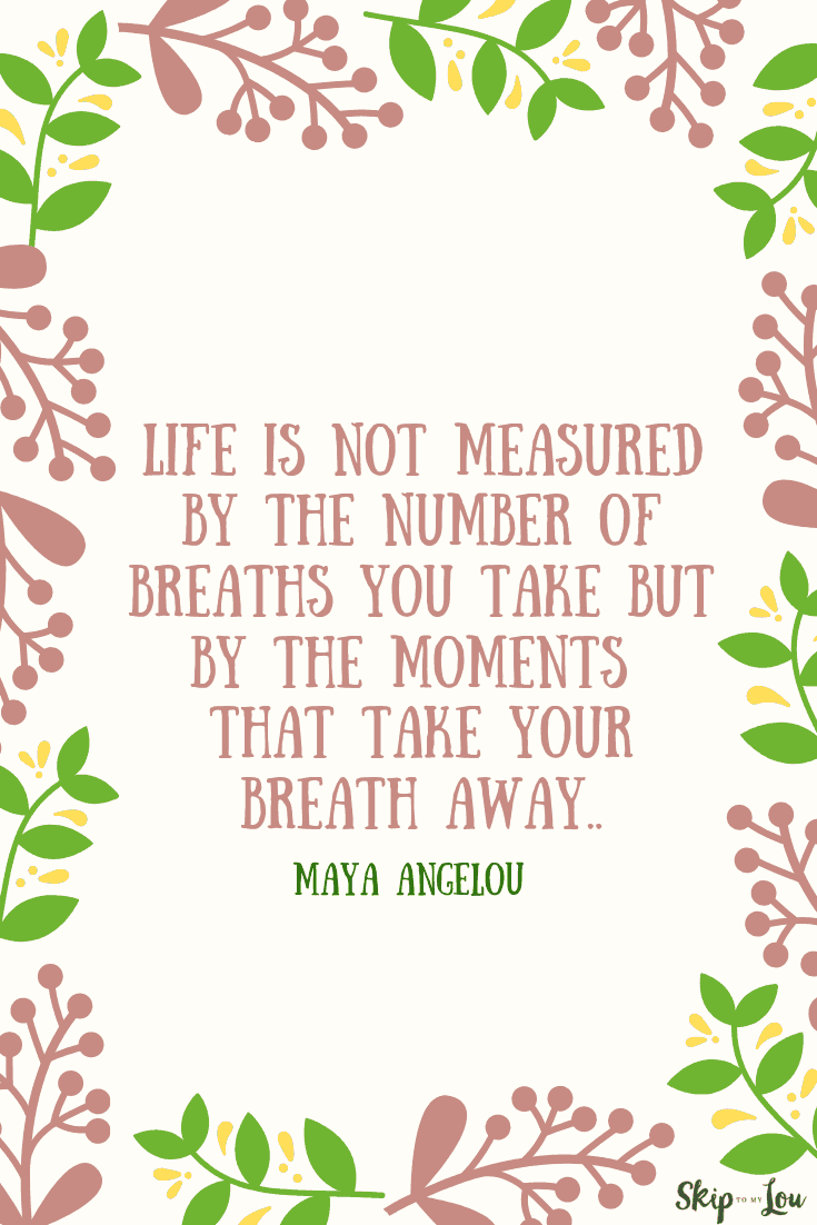 life is not measured Maya Angelou quote