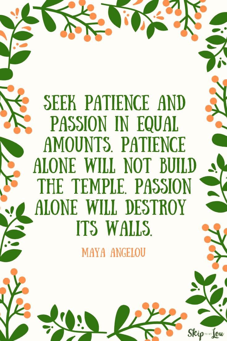 seek patience