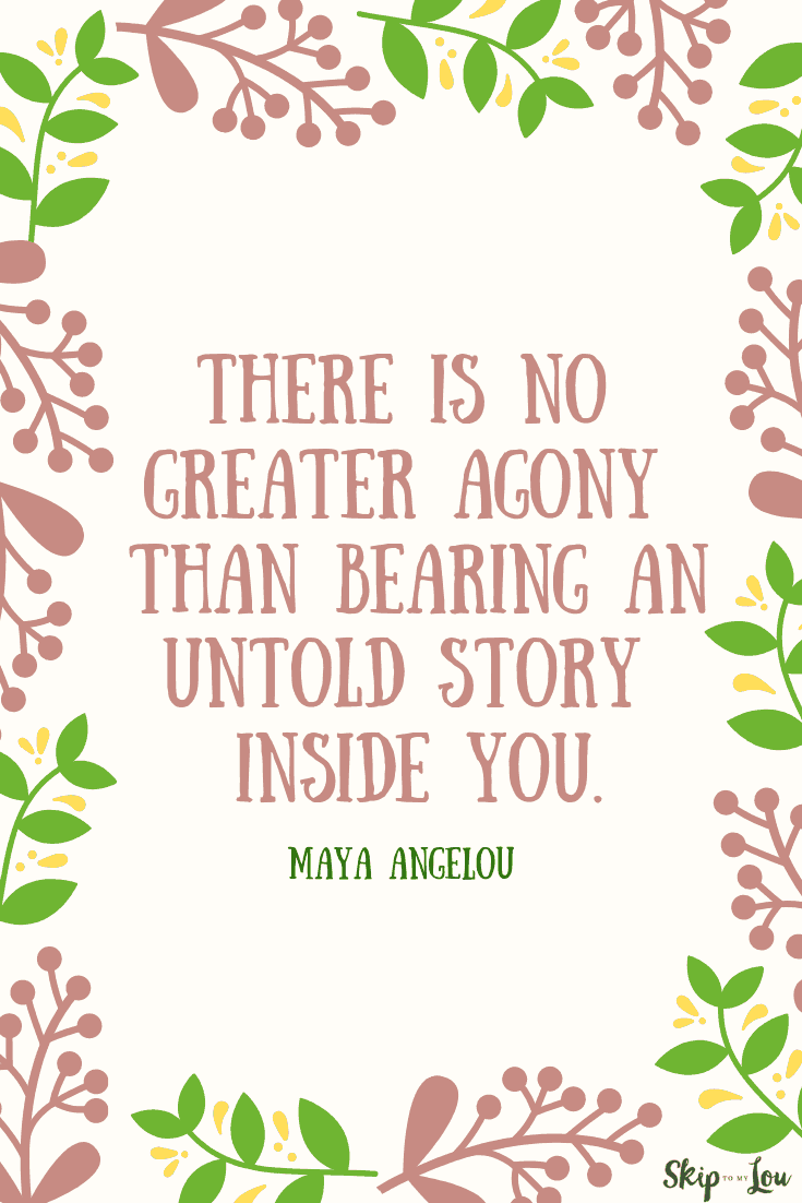 there is no greater agony Maya Angelou quote