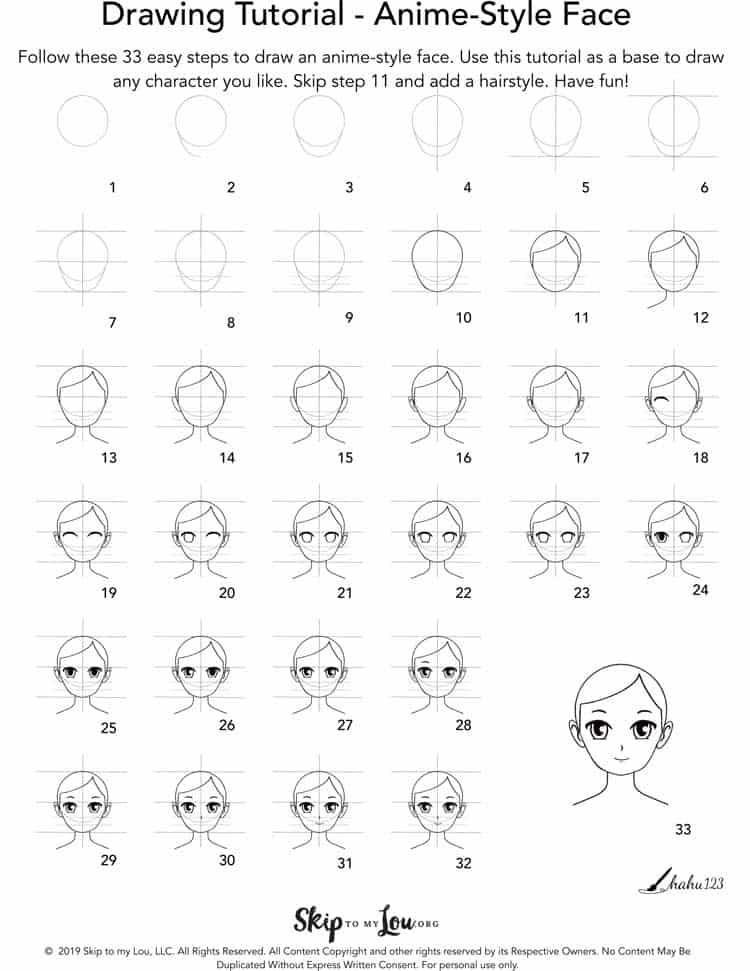 how to draw an anime step by step