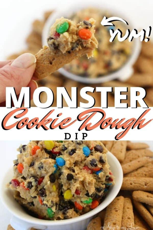 cookie dough dip pinterest image