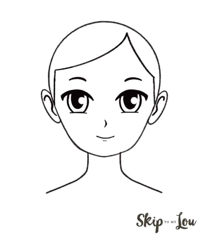 anime face drawing