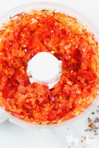 finely chopped red peppers