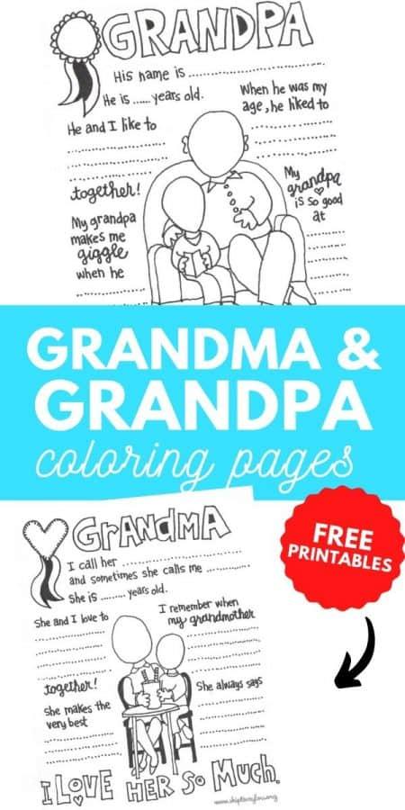 grandma grandpa coloring pages PIN