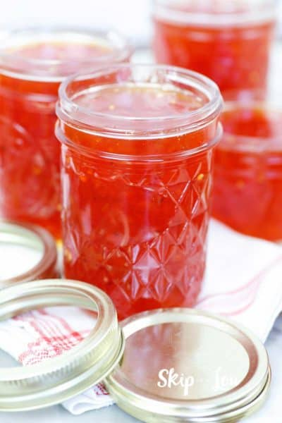 hot pepper jelly in canning jars