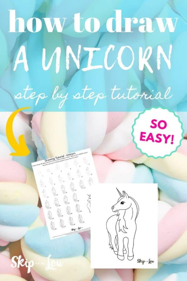 how to draw a unicorn PIN