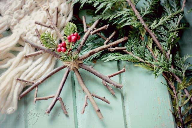 rustic twig ornament
