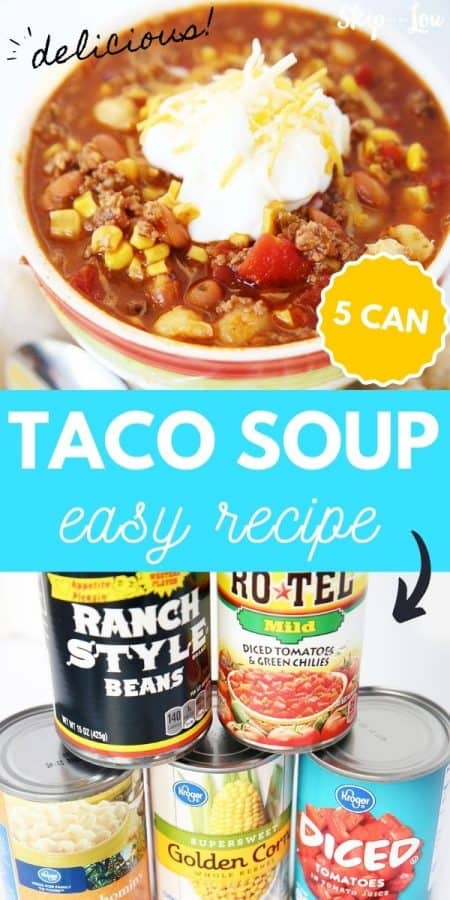 5 can taco soup easy recipe PIN