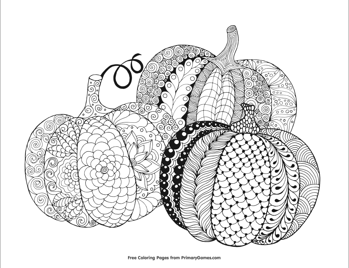 pumpkins coloring page