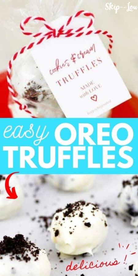 easy oreo truffles recipe PIN