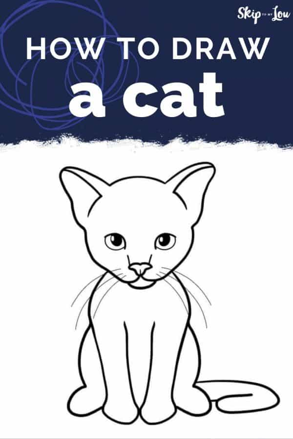 how to draw a cat PIN