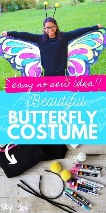 no sew butterfly costume PIN