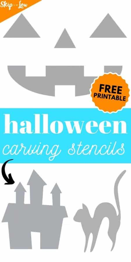 pumpkin carving free printable stencil PIN